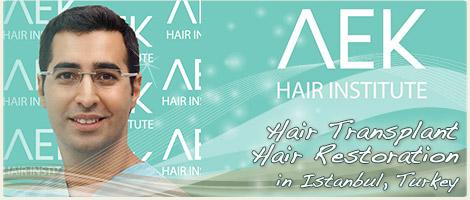 AEK Hair Institute FUT Hair Transplant in Istanbul Turkey